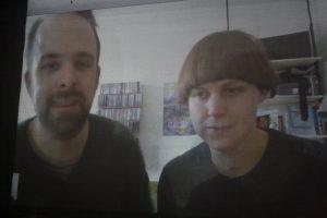Florian Hohnhorst und Paula Reissig im Skype-Interview.