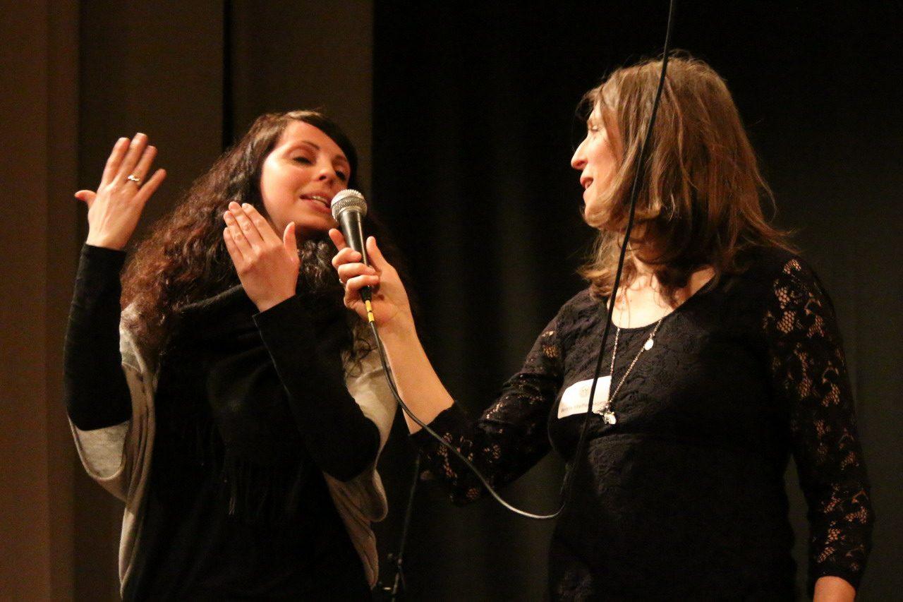 Stefanie Heim, Britta Steffenhagen. Bild: Tito Loria.