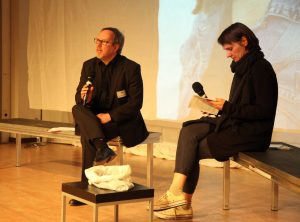 Jochen Meißner (Endjury), Silvia Vormelker (Vorjury). Bild: Tom Ben Guischard.